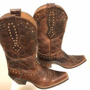 Ariat Studded Cowboy Western Boots Women's 7